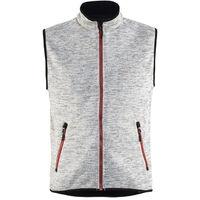 Gilet sans manches tricoté - 9056 Gris chiné/rouge - Blaklader