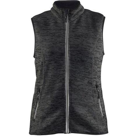 Gilet sans manches tricoté femme - 9710 Gris Anthracite/blanc - Blaklader