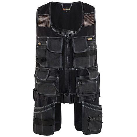 Gilet sans manches X1900 multipoches - 9900 Noir - Blaklader