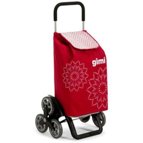 Gimi Carrello Spesa Floral Rosso L 56 51X41 H 102