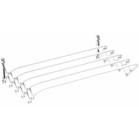 DREAMADE Scaffale in Legno Mensola Libreria a 5 ripiani da Casa Bagno Balcone 140 x 57 x 26 cm