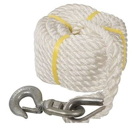 Gin Wheel Rope with Hook - 20m x 18mm