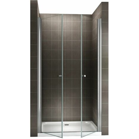 GINA Porte de douche H 185 cm largeur réglable 68-72 cm opaque