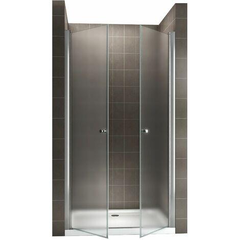 GINA Porte de douche H 195 cm largeur réglable 80-84 cm opaque
