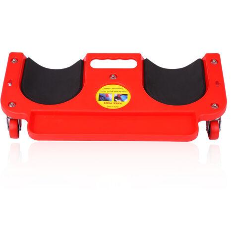 Ginocchiere in silicone Rivestimento per pavimento con 5 ginocchiere Rotelle per ginocchiere Creeper Rolling Knee Pad con vassoio portautensili e supporto