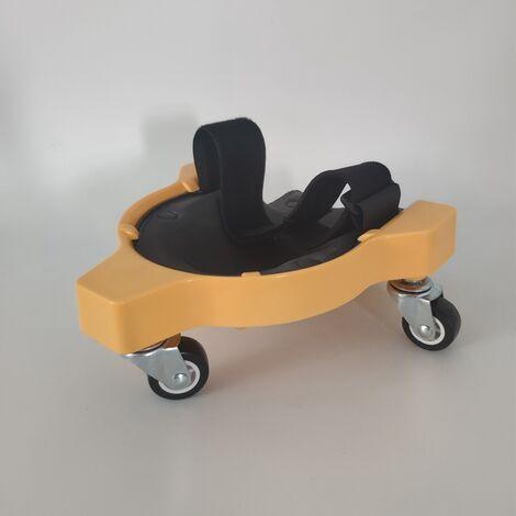 Ginocchiere scorrevoli, piastrelle per pavimenti piastrellate, belle ruote universali per la lavorazione del legno, cuscini mobili per le ginocchia, ginocchiere scorrevoli (giallo