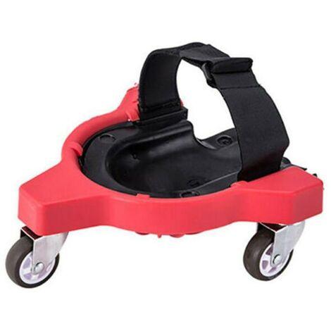 Ginocchiere scorrevoli, piastrelle per pavimenti piastrellate, belle ruote universali per la lavorazione del legno, cuscini mobili per le ginocchia, ginocchiere scorrevoli (rosso