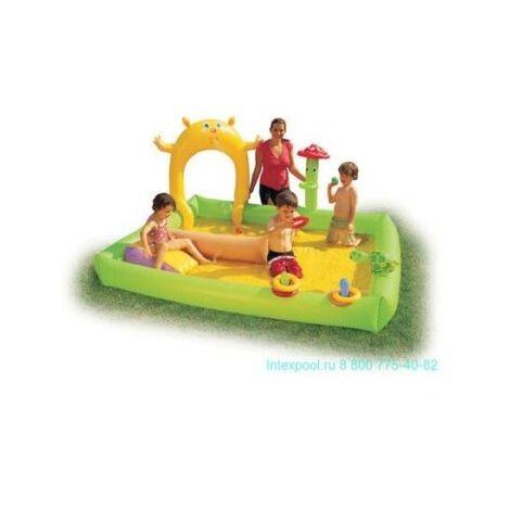 Gioco gonfiabile piscina da giardino con cascata d'acqua 241 x 239 x114 cm 53031