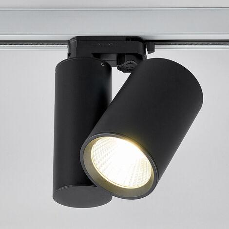 Giol black LED spotlight for track lighting system