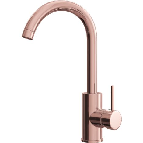 Giona Kitchen Sink Mixer with Swivel Spout - Copper