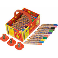 Giotto 461300 Bebe Large Pencils & Sharpeners - Pack of 36