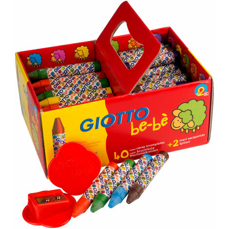Giotto 462700 Bebe Large Wax Crayons - Pack of 40