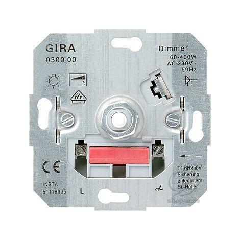 GIRA Dimmer Dreh-Aus Glühlampe 60-400 W Einsatz 030000