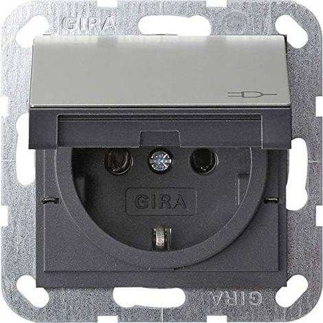 "main image of ""GIRA E2PRISE EN ACIER INOXYDABLE AVEC COUVERCLE 55X 55MM 0454600"""