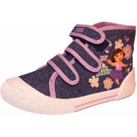 Girls Dora The Explorer Sweeties Canvas Boot Shoe