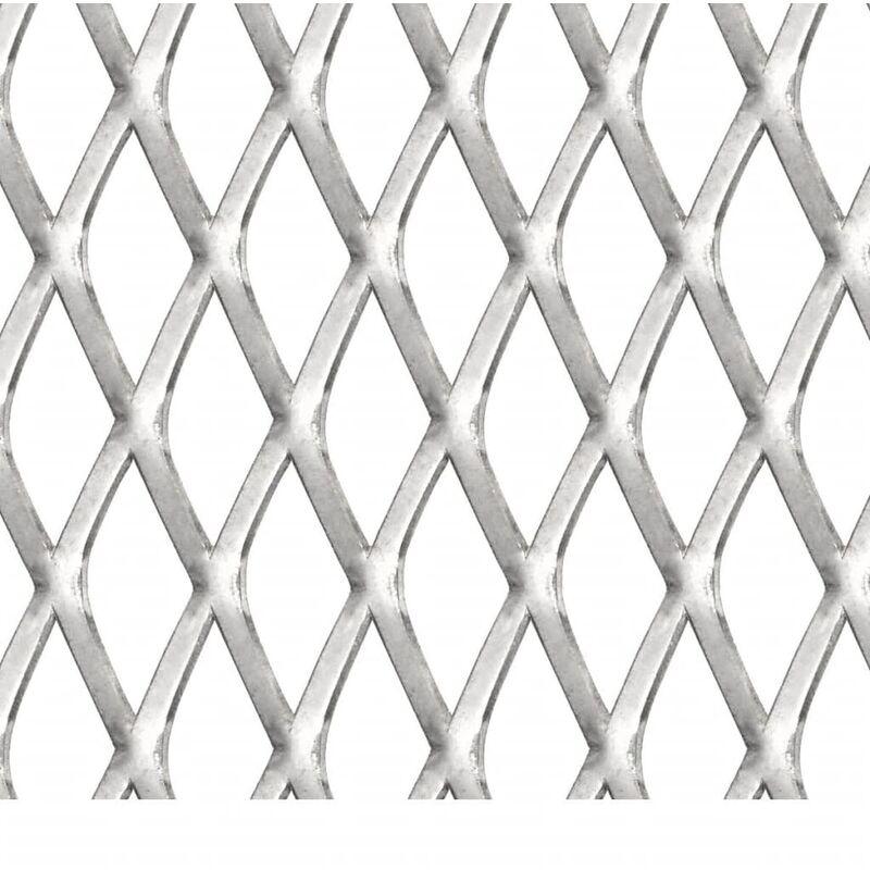 vidaXL Gittermatte Edelstahl 50x50 cm 20x10x2 mm Maschendraht Streckmetall