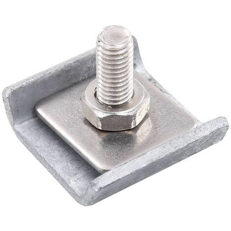 Gittermattenverbinder 25 Sets Silbern