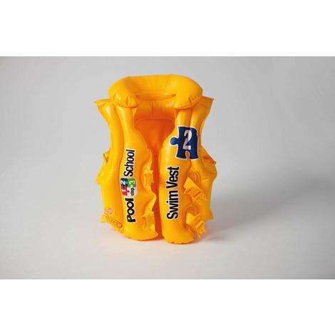 Ciambella salvagente gonfiabile cm91 color giallo neon