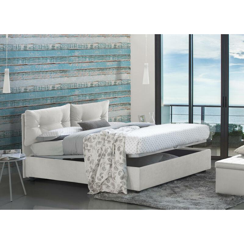 GIULIA DOPPELBETT MIT Bettkasten, L200 Farbe Weiß - TALAMO ITALIA