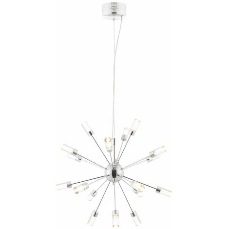 Glacier, chrome and acrylic pendant light