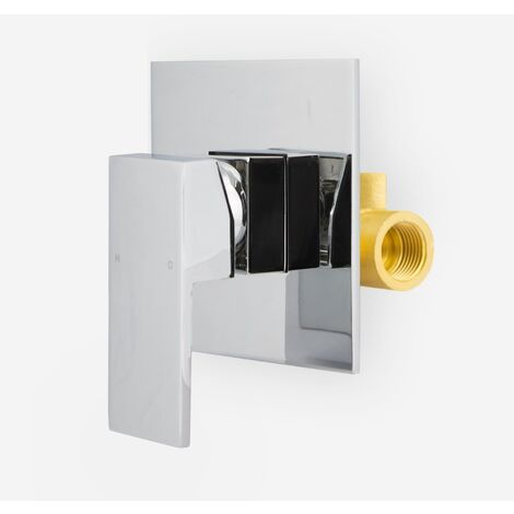 "Glareen Wall Mounted Square Concealed Valve 1/2"" Hot And Cold"