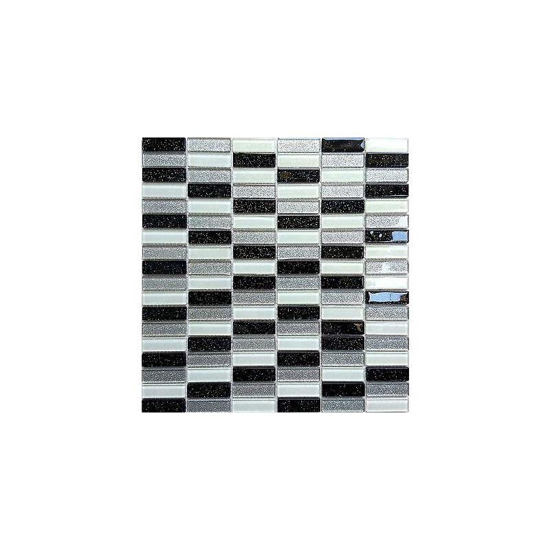 1qm Glas Mosaik Fliesen in Schwarze MT0028 m2 weiße//Grün,silberne mit Glitzer