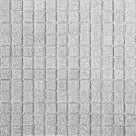 Glas Mosaik Fliesen Matte In Silber Mit Glitzer MT0073