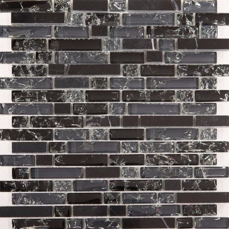Glas Und Marmor Naturstein Mosaik Fliesen Matte In Schwarz Und Grau