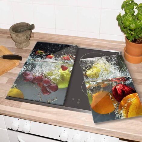 Glasabdeckplatte Erfrischendes Obst Herdabdeckplatte 60x52cm Servierplatte