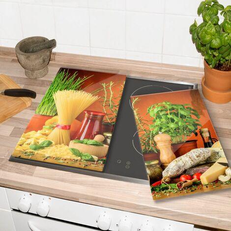 Glasabdeckplatte Italienisch Kochen Herdabdeckplatte 60x52cm Servierplatte