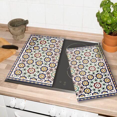 Glasabdeckplatte Orientalische Kacheln Herdabdeckplatte 60x52cm Porenfrei