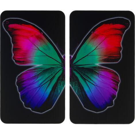 Glasabdeckplatte Universal Butterfly by Night 2er Set