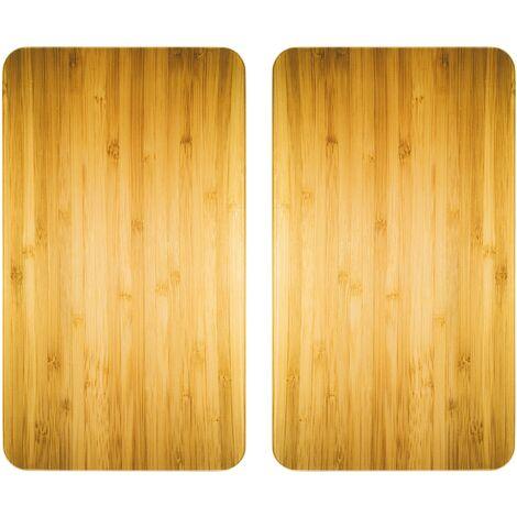 Glasabdeckplatte Universal Holz-Optik, 2er Set WENKO