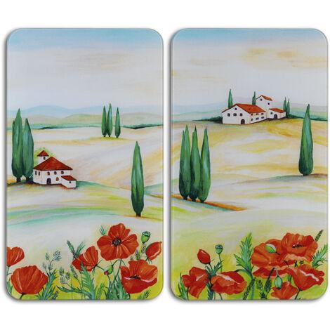 Glasabdeckplatte Universal Toscana, 2er Set