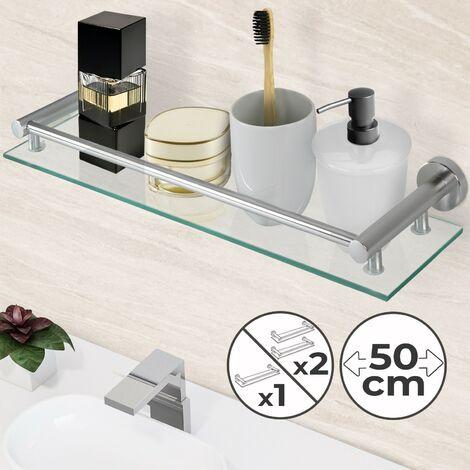Glasablage Bad Badablage Wandregal aus Glas Badezimmerregal inkl. Montagemateria