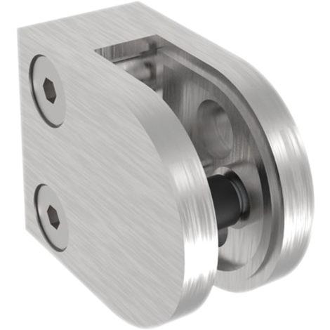 Glasklemmbeschlag Modell 25 für Vierkantrohr, rund