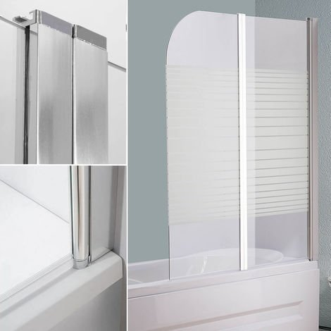 Glass Bathtubs Shower screen Satinized strips Shower wall Bathtub attachment