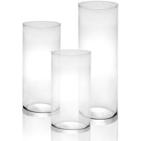 """main image of """"Glass Candle Cylinders - Set of 3 
