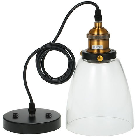 Glass chandelier retro nostalgic E26 bulb