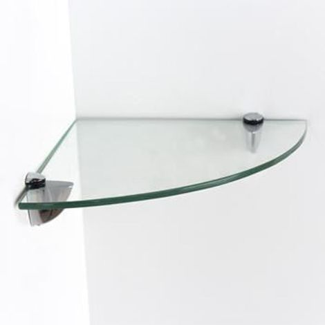 glass corner shelf kit - clear