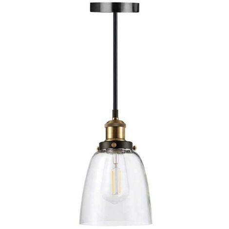 Glass hanging lamp with retro LED bulb Filament XXCELL - E27
