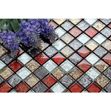 Glass Hong Kong Autumn Bathroom Kitchen Feature Mosaic Tiles MT0091