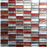 Glass Hong Kong Autumn Brick Bathroom Kitchen Feature Mosaic Tiles MT0006