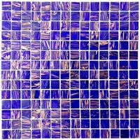 Glass mosaic for shower and bathroom vitro-violet