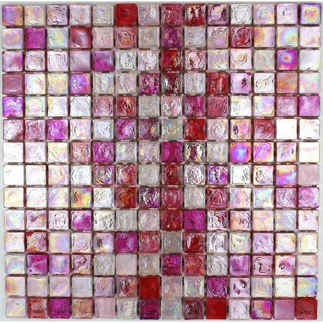 glass mosaic for wall and bathroom Arezo Rose