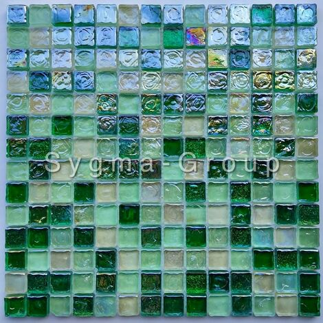 glass mosaic for wall and bathroom Arezo Vert