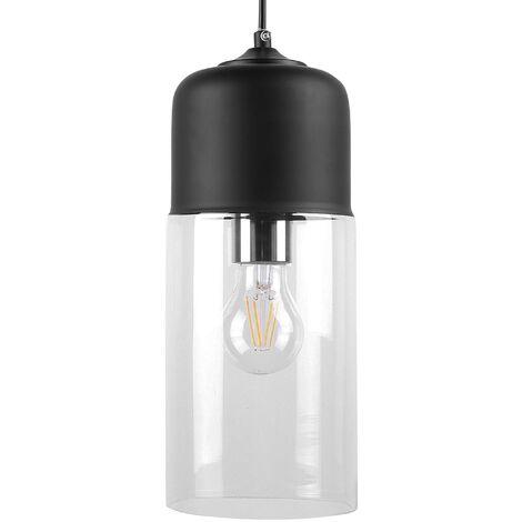 Glass Pendant Lamp Black PURUS