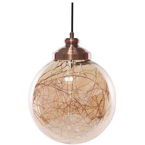 Glass Pendant Lamp Copper BENI Small