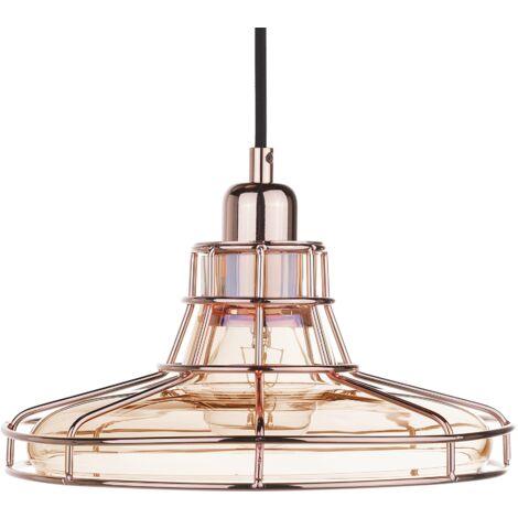 Glass Pendant Lamp Copper TORRE