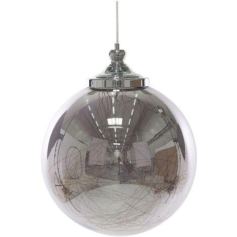 Glass Pendant Lamp Silver BENI Big